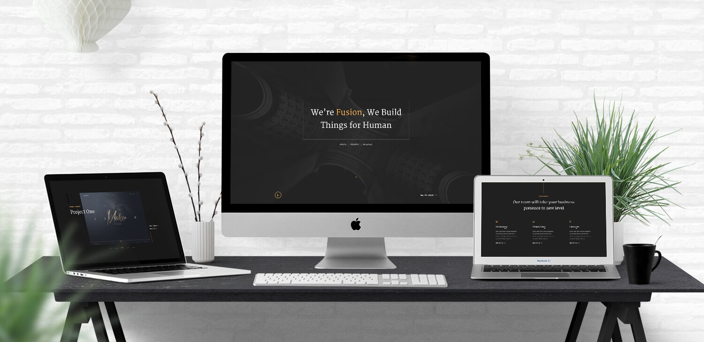 Fusion - Free HTML5 Portfolio Template