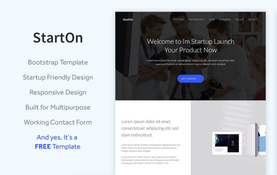StartOn - Free Bootstrap Startup Template