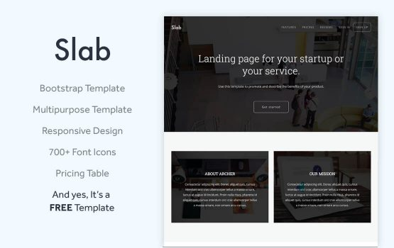 Slab - Free Multipurpose Bootstrap Template