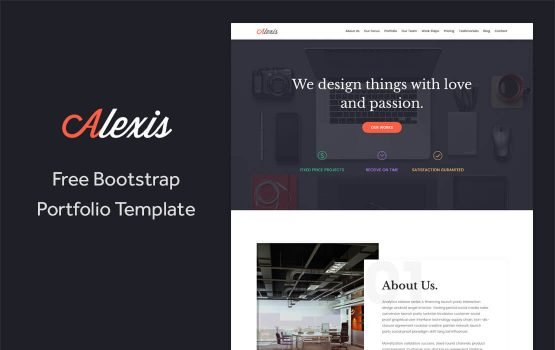Alexis - Free One Page Bootstrap Portfolio Template